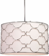 Artcraft SC645 Morocco Chrome Drum Pendant Light Fixture
