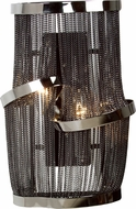 Avenue Lighting HF1404-BLK Mulholland Dr. Contemporary Black Chrome Finish 10 Wide Wall Sconce Lighting
