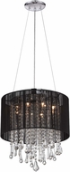 Avenue Lighting HF1501BLK Beverly Dr. Black Silk String Halogen Lighting Pendant