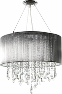 Avenue Lighting HF1502-SLV Beverly Dr. Silver Silk String Finish 18.5  Tall Halogen Drum Ceiling Light Pendant
