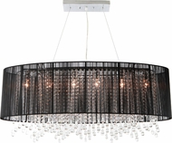 Avenue Lighting HF1503-BLK Beverly Dr. Black Silk String Finish 39.5  Wide Island Light Fixture