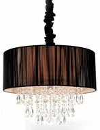 Avenue Lighting HF1506-BLK Vineland Ave. Black Silk String Finish 19  Wide Drum Pendant Lamp