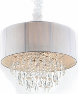 Avenue Lighting HF1506-WHT Vineland Ave. White Silk String Finish 17  Tall Drum Pendant Light Fixture