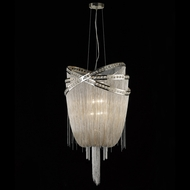 Avenue Lighting HF1609-NCK Wilshire Blvd. Polished Nickel Finish 45  Tall Pendant Hanging Light