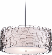 Avenue Lighting HF1702-PN Ventura Blvd. Contemporary Polished Nickel Finish 21  Wide Drum Drop Ceiling Lighting