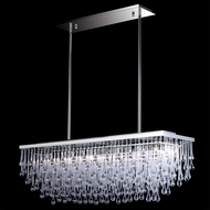 Avenue Lighting HF1807-PN Hollywood Blvd. Contemporary Polished Nickel Finish 12  Wide Halogen Island Lighting