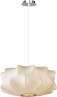Avenue Lighting HF2111-WHT Melrose Pl. Contemporary White Finish 18  Wide Drop Ceiling Light Fixture