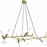 Avenue Lighting HF6016-BB Manhattan Ave. Contemporary Brushed Brass Halogen Mini Chandelier Lighting