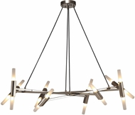 Avenue Lighting HF6016-PN Manhattan Ave. Modern Polished Nickel Halogen Mini Lighting Chandelier