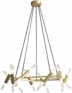 Avenue Lighting HF6020-BB Manhattan Ave. Contemporary Brushed Brass Halogen Chandelier Lamp