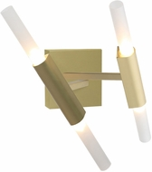 Avenue Lighting HF8052-BB San Vicente Contemporary Brushed Brass Halogen Wall Light Fixture