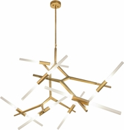 Avenue Lighting HF8060-14-BB San Vicente Contemporary Brushed Brass Halogen Chandelier Light
