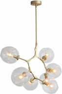 Avenue Lighting HF8070-BB Fairfax Contemporary Brushed Brass Chandelier Lamp