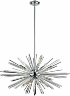 Avenue Lighting HF8202-CH Palisades Ave. Chrome With Clear Glass 31.5  Pendant Lighting