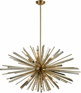 Avenue Lighting HF8203-AB Palisades Ave. Antique Brass With Champagne Glass 39.375  Pendant Light