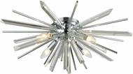 Avenue Lighting HF8205-CH Palisades Ave. Chrome With Clear Glass Ceiling Lighting Fixture