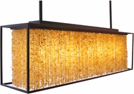 Avenue Lighting HF9000-DBZ Soho Modern Dark Bronze With Natural Citrine Nuggets Kitchen Island Light