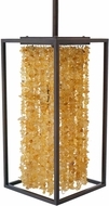 Avenue Lighting HF9002-DBZ Soho Modern Dark Bronze With Natural Citrine Nuggets Mini Hanging Pendant Light