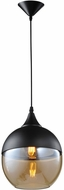 Avenue Lighting HF9111-BK-BZ Robertson Blvd. Contemporary Black Mini Pendant Hanging Light