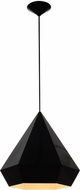 Avenue Lighting HF9115-BK Doheny Ave. Contemporary Black Ceiling Light Pendant