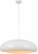 Avenue Lighting HF9116-WT Doheny Ave. Contemporary White Pendant Lighting