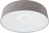 Avenue Lighting HF9201-GRY Cermack St. Contemporary Grey Linen LED 16  Ceiling Light Fixture