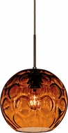 Besa 1JT-BOMYAM-BR Bombay Contemporary Bronze Amber Mini Pendant Lighting