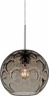 Besa 1JT-BOMYSM-SN Bombay Modern Satin Nickel Smoke Mini Hanging Light