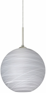 Besa 1JT-COCO1060-LED-SN Coco Contemporary Satin Nickel Cocoon LED 10 Mini Hanging Lamp