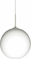 Besa 1JT-COCO1207-LED-SN Coco Contemporary Satin Nickel Opal Matte LED 12  Mini Pendant Light Fixture