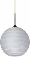 Besa 1JT-COCO1260-LED-BR Coco Contemporary Bronze Cocoon LED 12 Mini Hanging Pendant Lighting