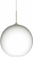 Besa 1JT-COCO1407-LED-SN Coco Modern Satin Nickel Opal Matte LED Hanging Light Fixture