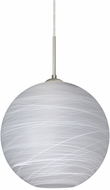 Besa 1JT-COCO1460-LED-SN Coco Contemporary Satin Nickel Cocoon LED Ceiling Light Pendant