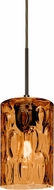 Besa 1JT-CRUSAM-BR Cruise Contemporary Bronze Amber Mini Pendant Light Fixture