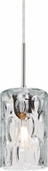 Besa 1JT-CRUSCL-SN Cruise Modern Satin Nickel Clear Mini Hanging Pendant Light
