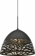 Besa 1JT-KIEVBK-LED-BR Kiev Contemporary Bronze LED Hanging Lamp