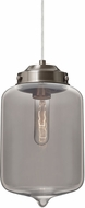 Besa 1JT-OLINSM-SN Olin Modern Satin Nickel Smoke Mini Pendant Lamp
