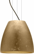 Besa 1KG-BELL14GF-LED-BR Bella Contemporary Bronze Gold Foil LED 14  Pendant Light Fixture