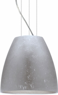 Besa 1KG-BELL14SF-LED-SN Bella Modern Satin Nickel Silver Foil LED 14  Hanging Pendant Light