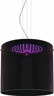 Besa 1KG-FUSION12-LED-SN Fusion Modern Satin Nickel Purple LED Hanging Pendant Light