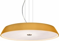 Besa 1KV-SOPHI1880-LED-SN Sophi Modern Satin Nickel Amber Matte LED Hanging Light