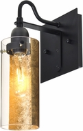 Besa 1WG-DUKEGF-BK Duke Contemporary Black Wall Lamp