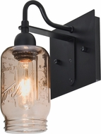 Besa 1WG-MILO4SM-BK Milo Black Sconce Lighting