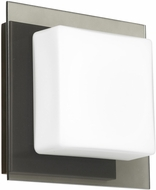 Besa 1WS-7735SM-LED-BR Alex Contemporary Bronze Opal/Smoke LED Wall Sconce