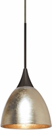 Besa 1XT-1758GF-LED-BR Divi Modern Bronze Gold Foil LED Mini Pendant Lighting Fixture