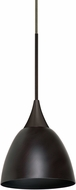 Besa 1XT-1858MB-LED-BR Divi Contemporary Bronze LED Mini Hanging Pendant Lighting