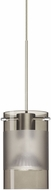 Besa 1XT-6524ES-LED-SN Scope Modern Satin Nickel Smoke/Frost LED Mini Hanging Light Fixture