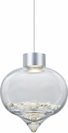 Besa 1XT-TERRACL-LED-SN Terra Modern Satin Nickel LED Mini Hanging Light