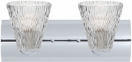 Besa 2WZ-NICO5CL-LED-CR Nico Chrome LED 2-Light Bath Lighting