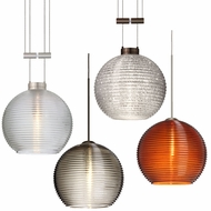 Besa 4615 Kristall Contemporary 6  Wide Mini Hanging Pendant Lighting